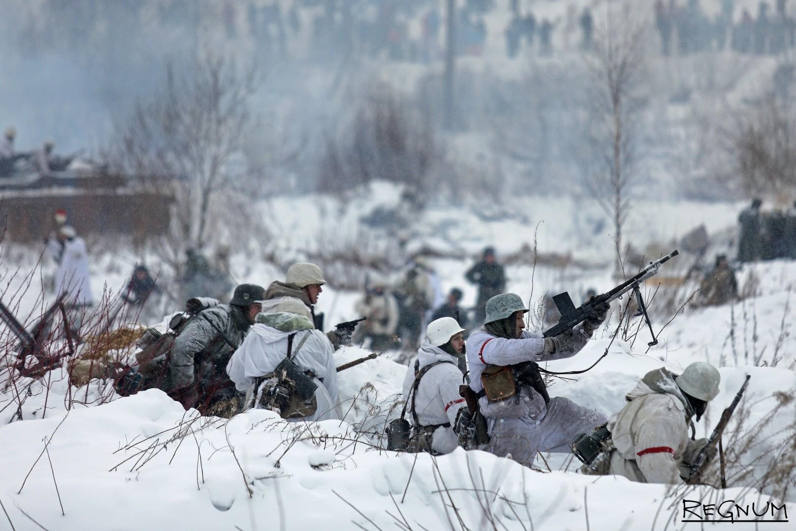 Контратака немецких солдат