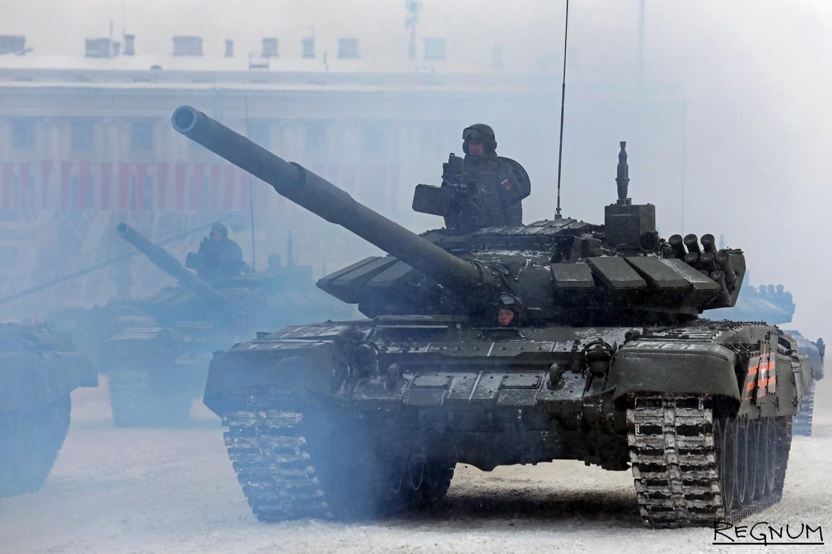 Колонна танков Т-72-Б3