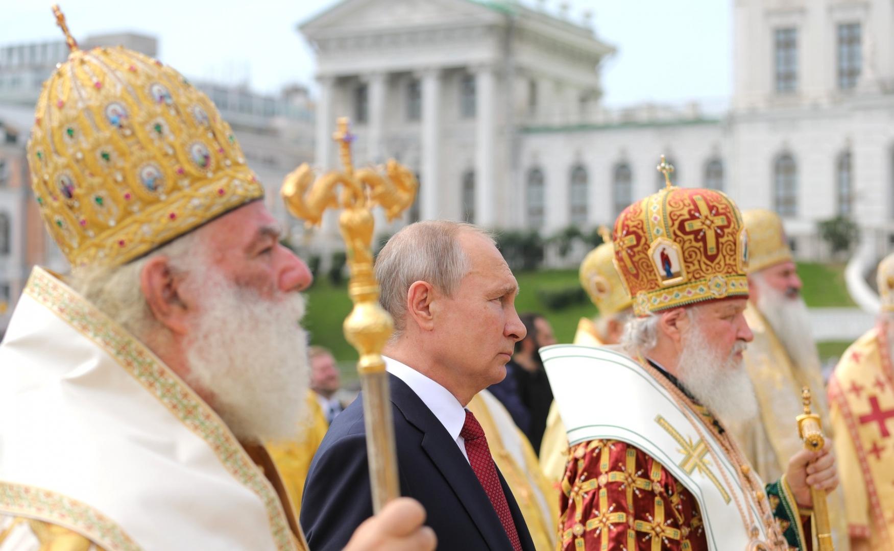 Владимир Путин с Патриархом Московским и всея Руси Кириллом