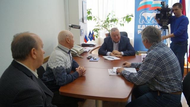 Владимир Синяговский на встрече с жителями муниципалитетов Туапсинского одномандатного избирательного округа № 49