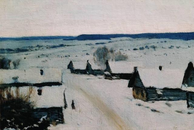 Исаак Левитан. Деревня. Зима. 1877-1878