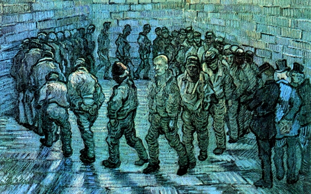 Винсент Ван Гог. Прогулка заключенных (фрагмент). 1890