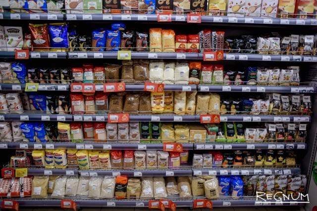 Крупы в супермаркете «Перекрёсток»