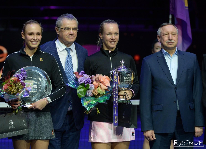 Донна Векич (Хорватия) и Кики Бертенс (Нидерланды), Александр Медведев и Александр Беглов