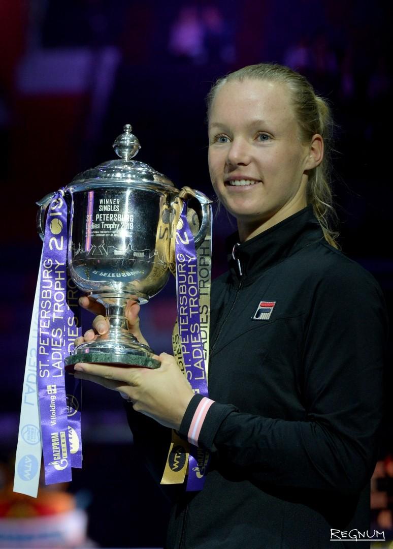 Победитель теннисного турнира Кики Бертенс (Нидерланды)