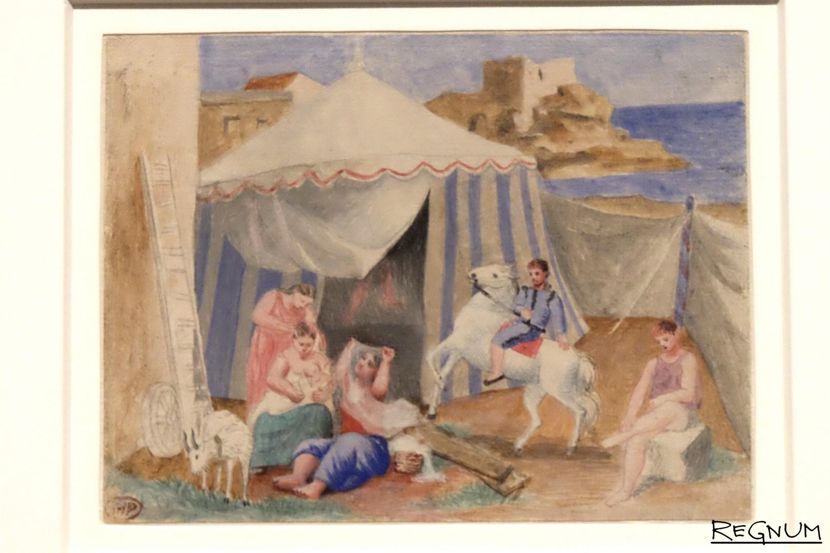 Пабло Пикассо. Ярмарочный цирк. 1922