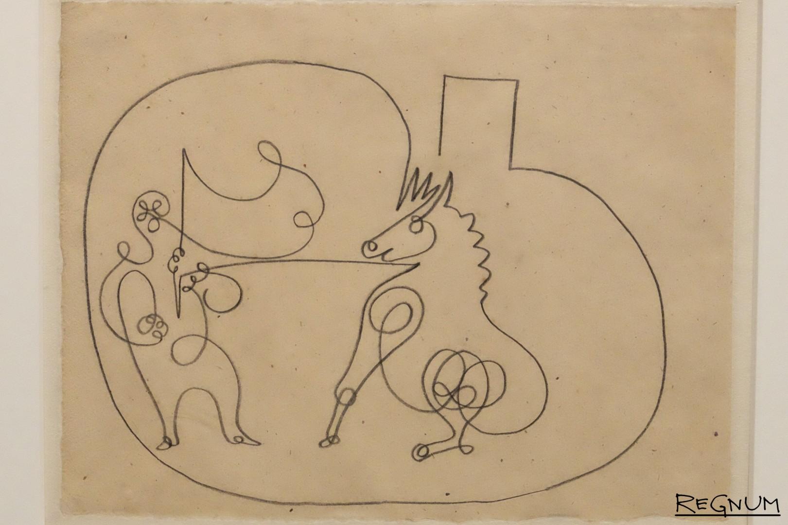 Пабло Пикассо. Лошадка с дрессировщиком