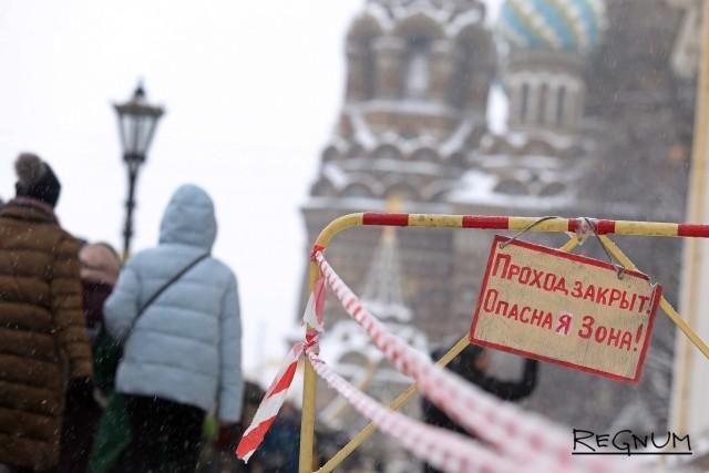 Петербург, февраль: опасная зона — весь город