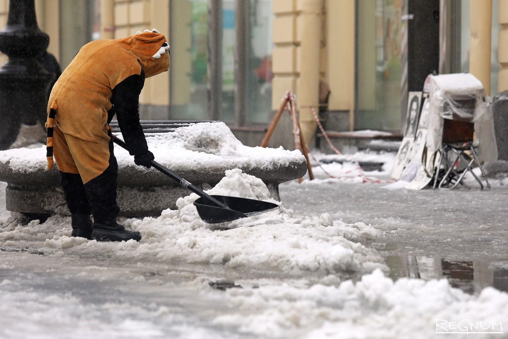 «Тигр» на уборке снега