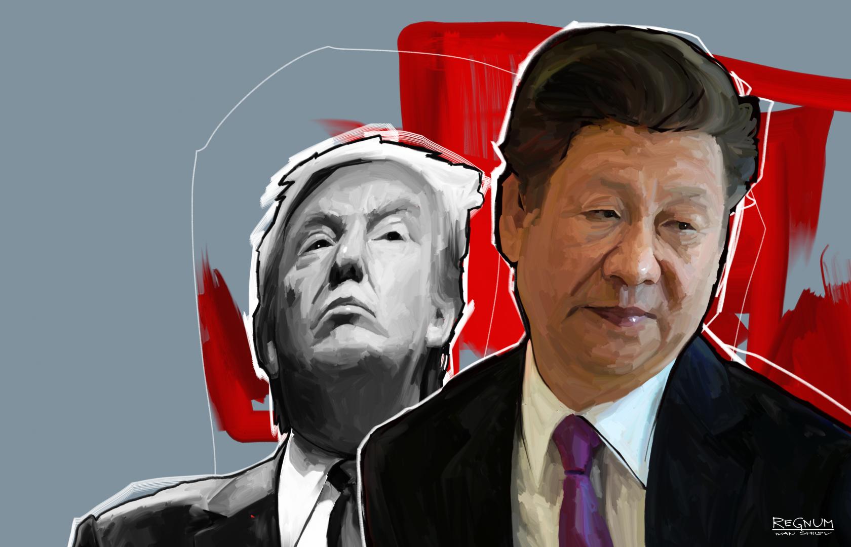Си Цзиньпин и Дональд Трамп