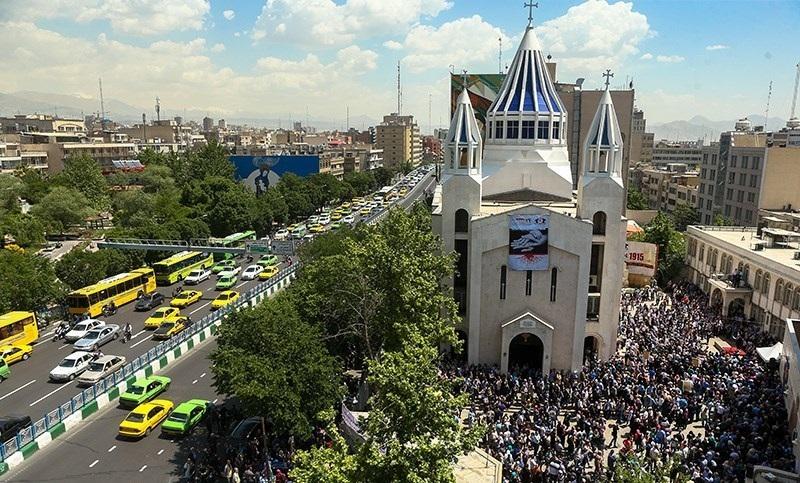 Собор Святого Саркиса в день памяти геноцида армян. Тегеран