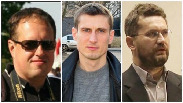 Регнумовцы, подвергшиеся преследованиям в Белоруссии: Дмитрий Алимкин, Юрий Павловец, Сергей Шиптенко