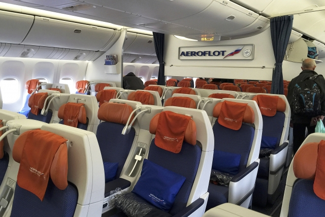 Cалон самолета авиакомпании «Аэрофлот»
