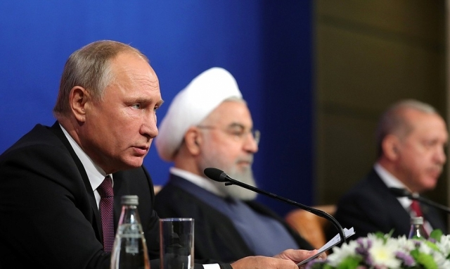 Владимир Путин, Хасан Рухани и Реджеп Эрдоган