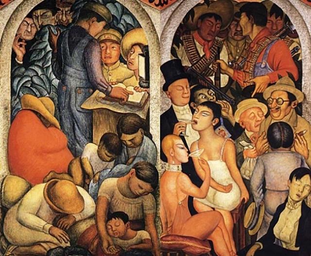 Диего Ривера. Ночь бедных. 1928. Ночь богатых. 1928