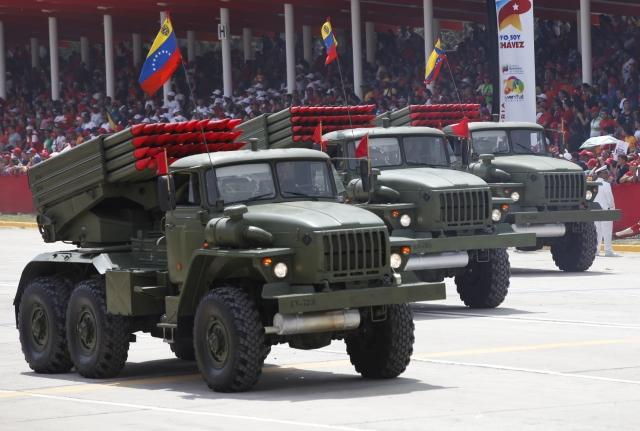 Установки БМ-21 «Град» венесуэльской армии