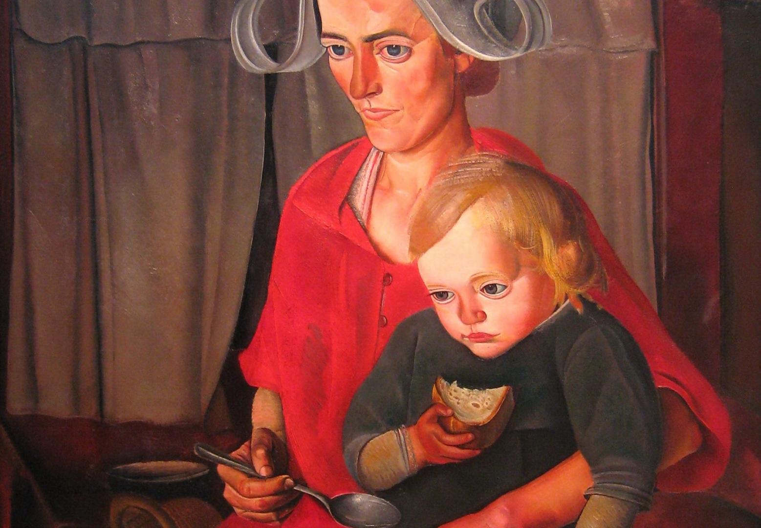 Борис Григорьев. Бедность (фрагмент). 1925
