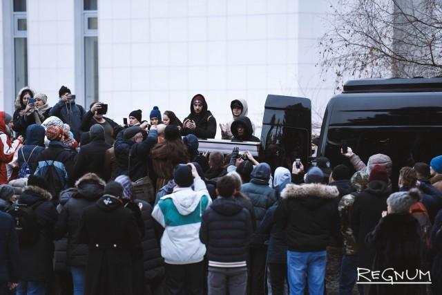 Церемония прощания с рэпером Децлом (Кириллом Толмацким)