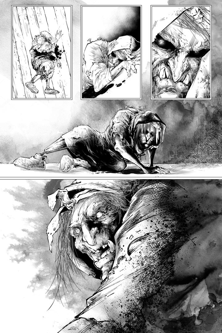 Фрагмент комикса Monstrous: Baba Yaga