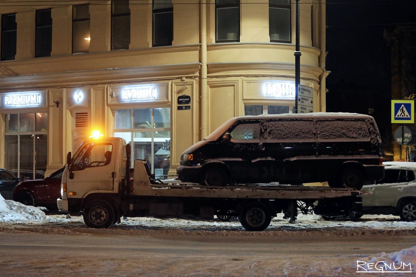 Эвакуированный автомобиль на Кирочной улице