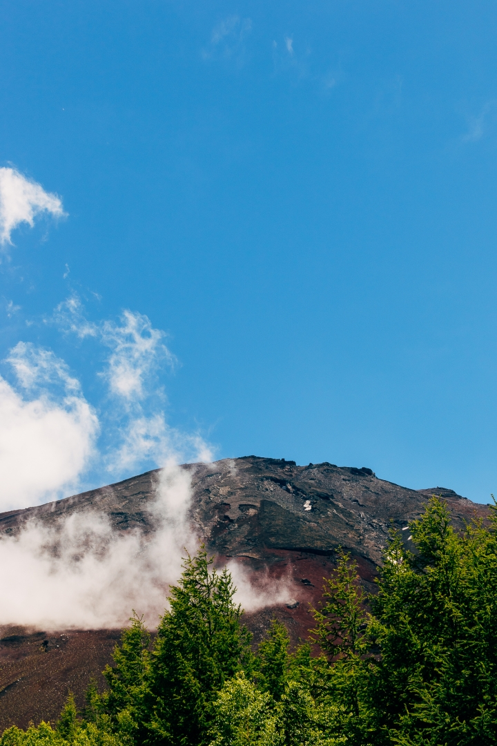 Вершина горы Фудзияма