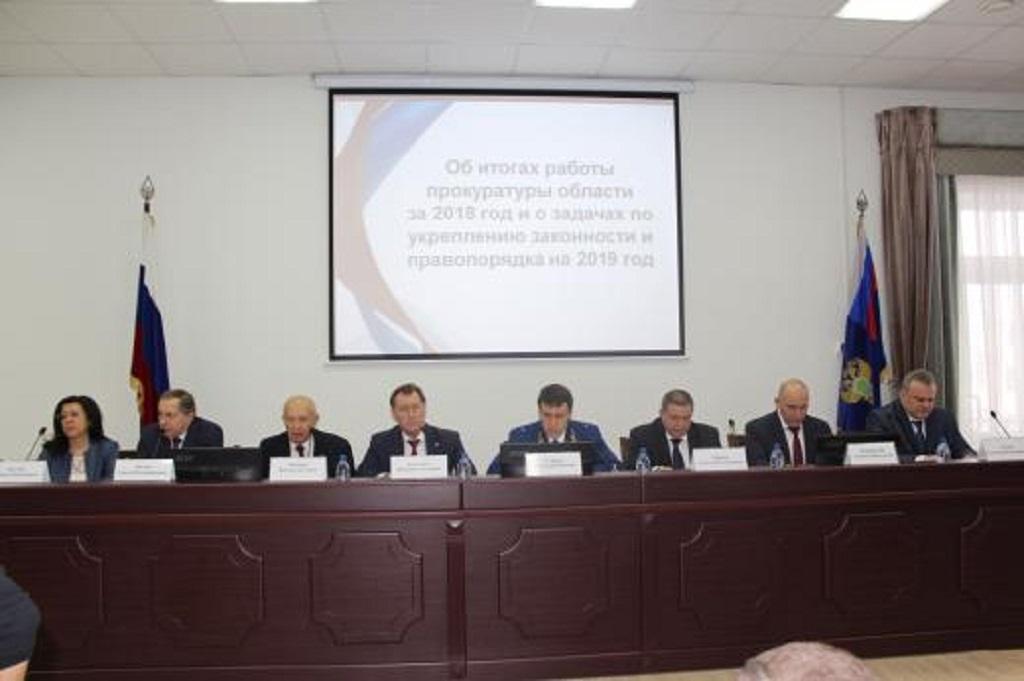 На заседании коллегии областной прокуратуры.