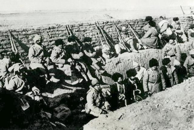 Русские солдаты в окопах. Русско-японская война 1904 — 1905 гг