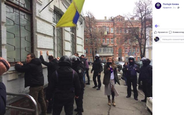 При попытке штурма управления полиции в Киеве задержаны около 40 человек