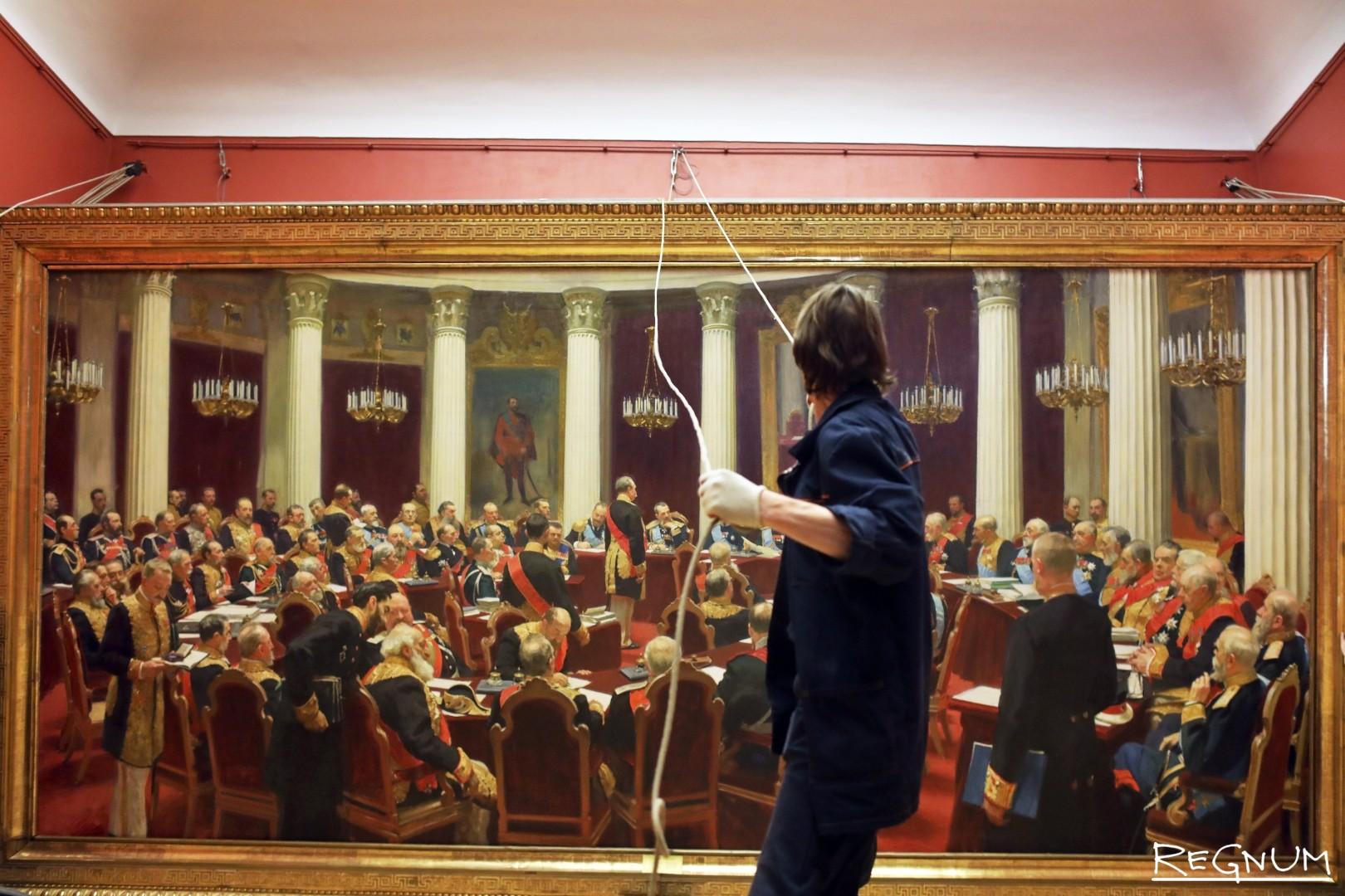 Демонтаж картины Ильи Репина