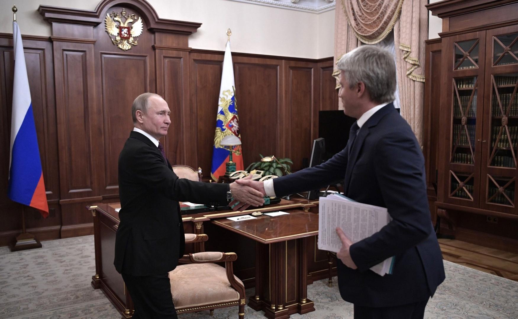 Встреча Владимира Путина с Павлом Колобковым