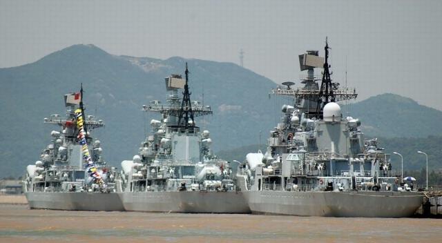 Общий тоннаж боевых кораблей ВМФ Китая достиг второго места в мире