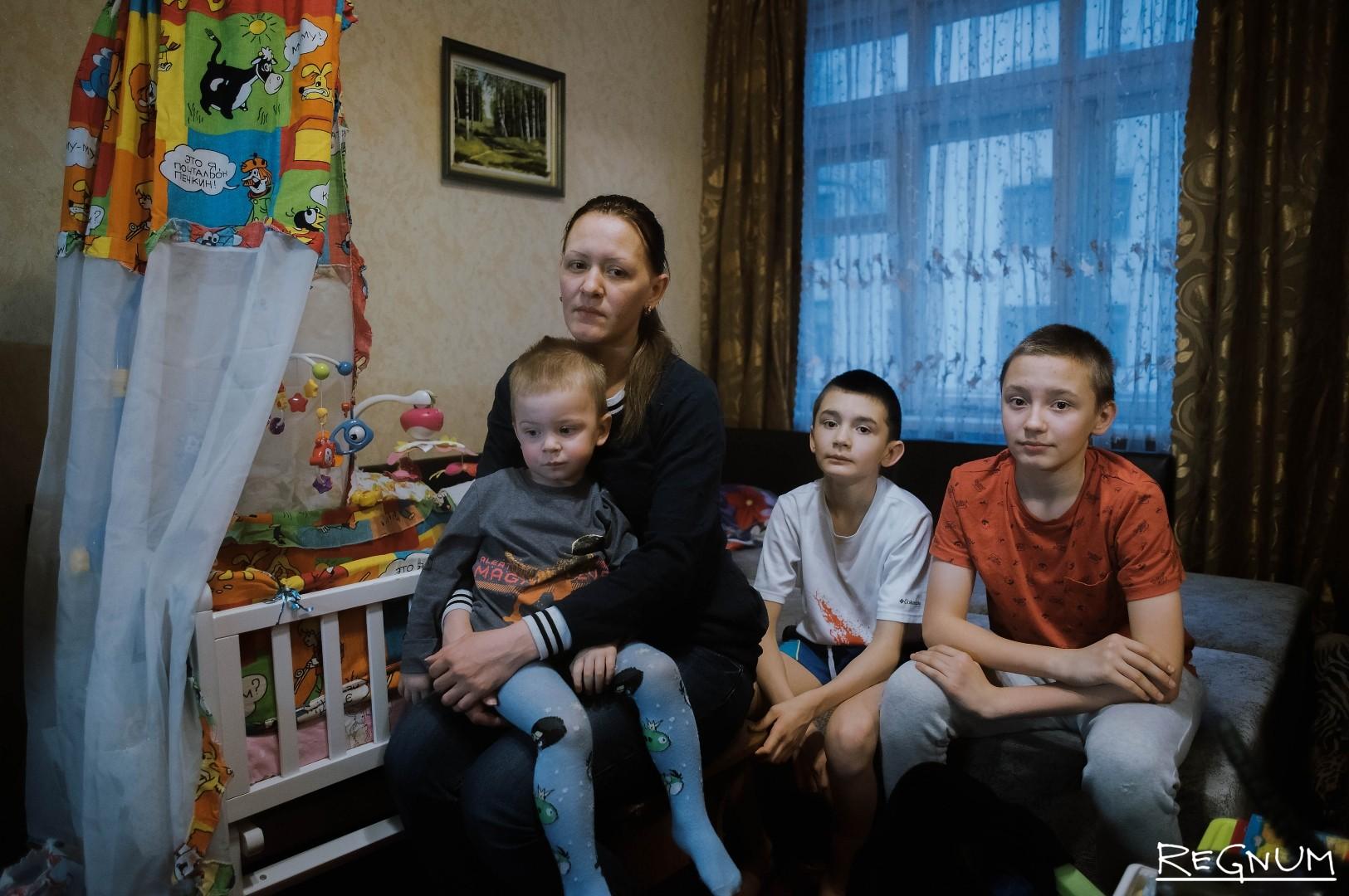 Светлана Климова с детьми