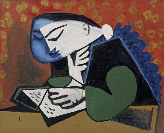 Пабло Пикассо. Чтение. 1953