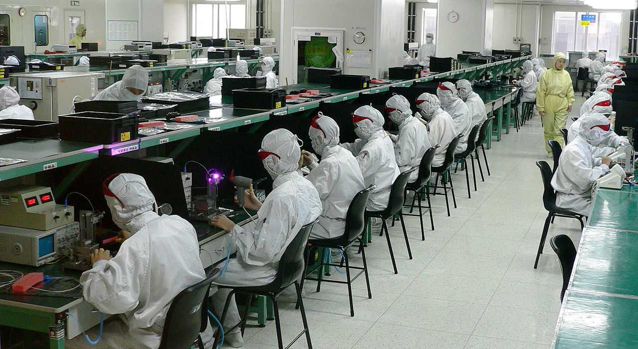 Завод электроники в Шеньчжене. Китай