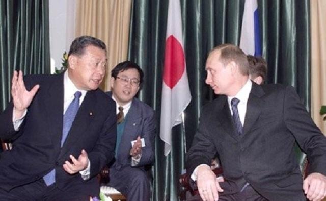 Переговоры Владимира Путина с Премьер-министром Японии Ёсиро Мори. Иркутск. 2001