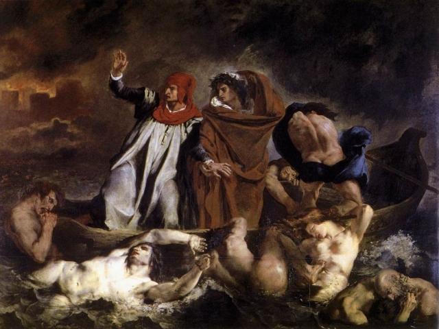 Эжен Делакруа. Данте и Вергилий в Аду. 1822