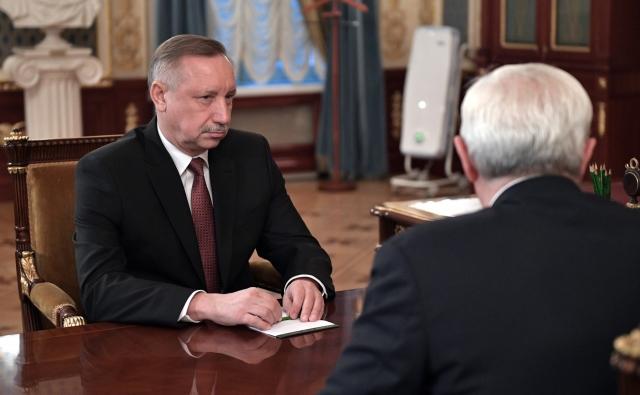 Александр Беглов (слева) и Георгий Полтавченко