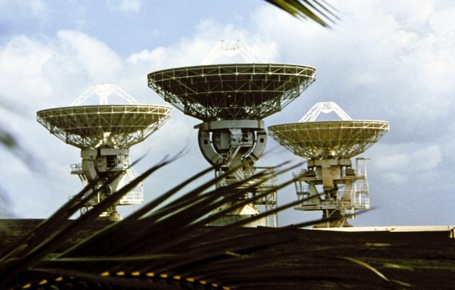 Радиолокационной антенны на станции DCA