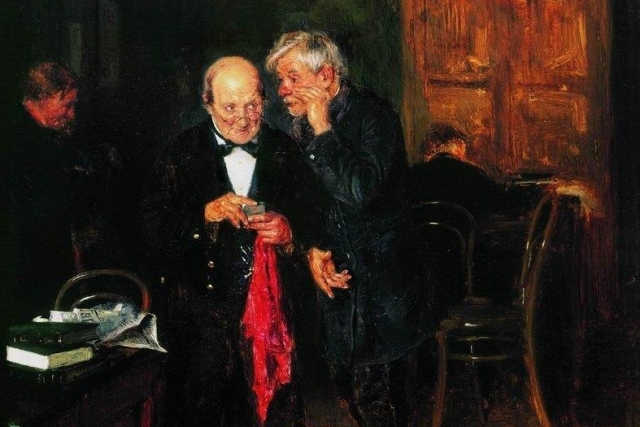 Константин Маковский. Секрет (фрагмент). 1884