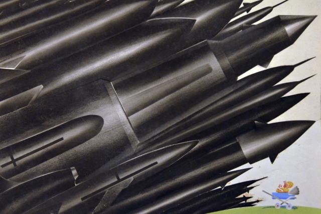 Фёдор Нелюбин. Плакат на тему гонки вооружений