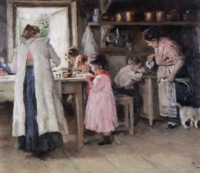Константин Маковский. На кухне. 1913