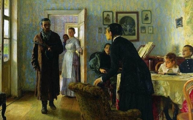 Илья Репин. Не ждали (фрагмент). 1884