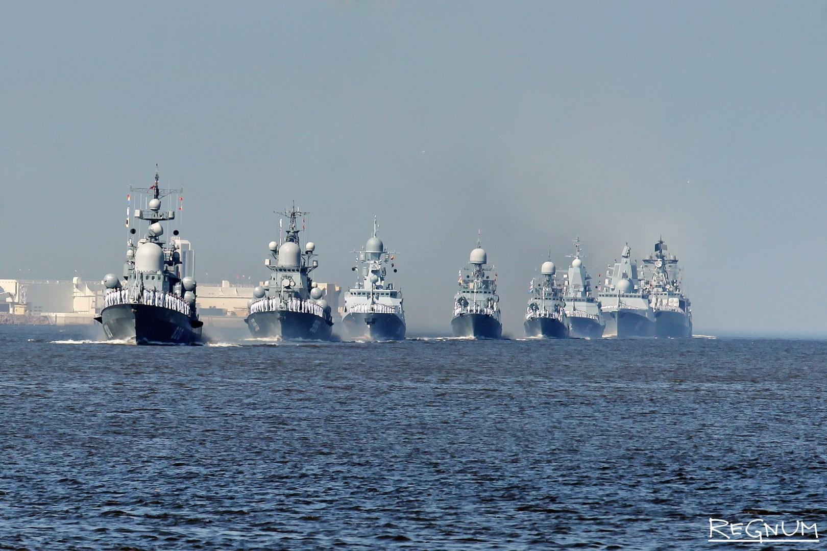 Морской парад на Кронштадском рейде