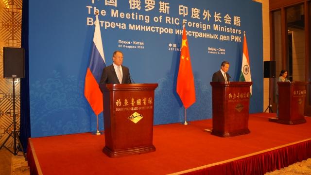Встреча МИД Росии, Индии и Китая