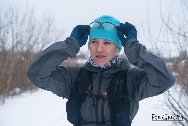 Елена Пшеничная перед стартом