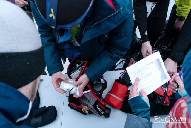 Проверка обязательно снаряжения перед стартом Valhalla Race 2 февраля
