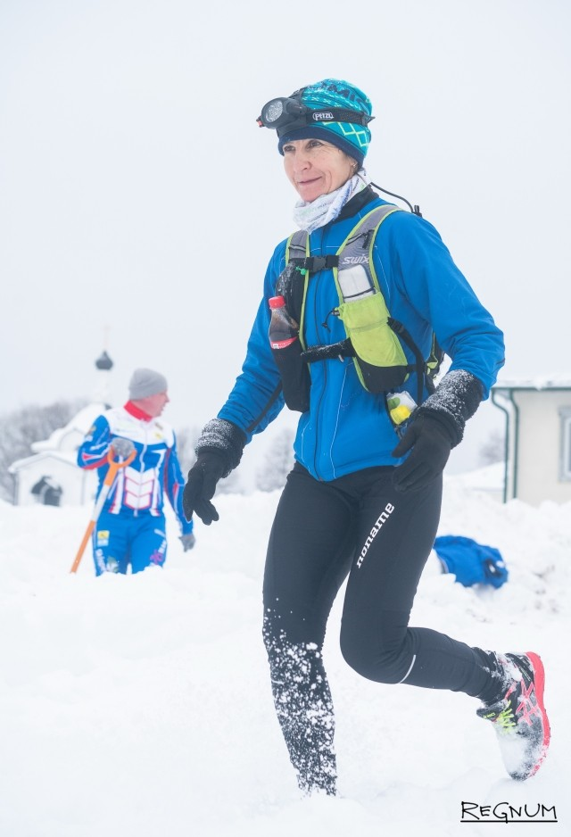 Валентина Михайлова на 130-м километре