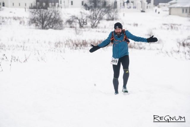 Александр Живов на 130-й километре