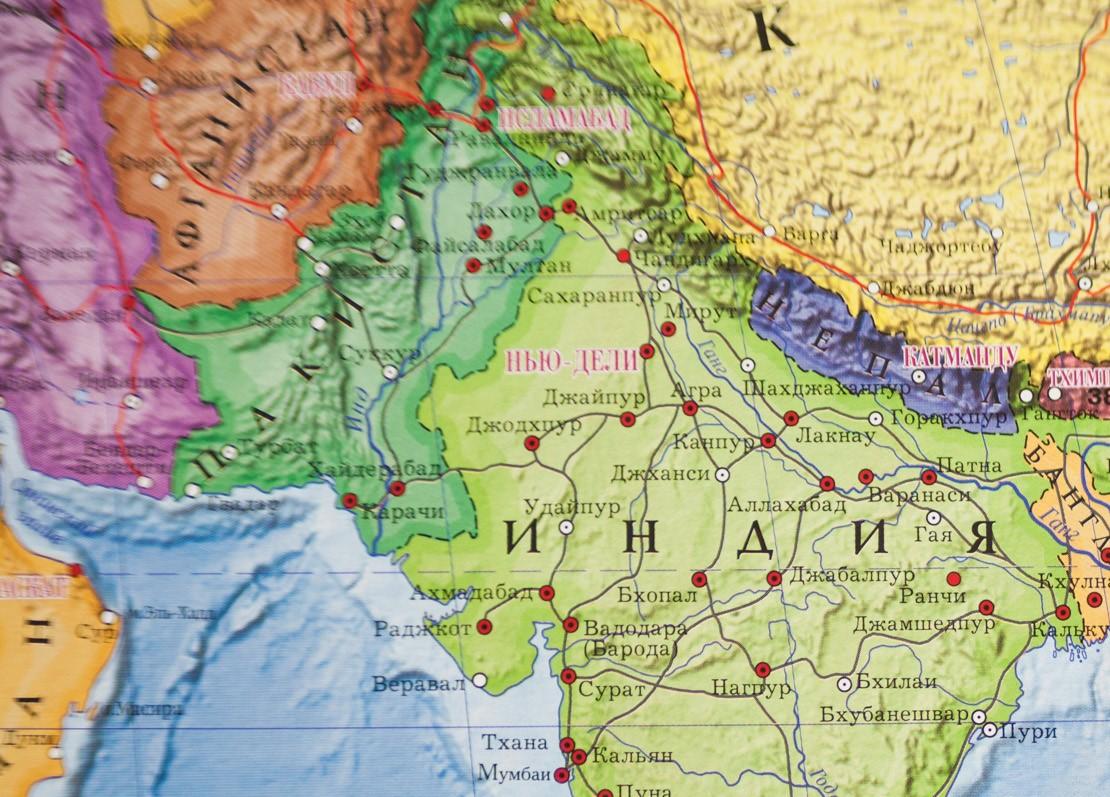 Индия и пакистан на карте