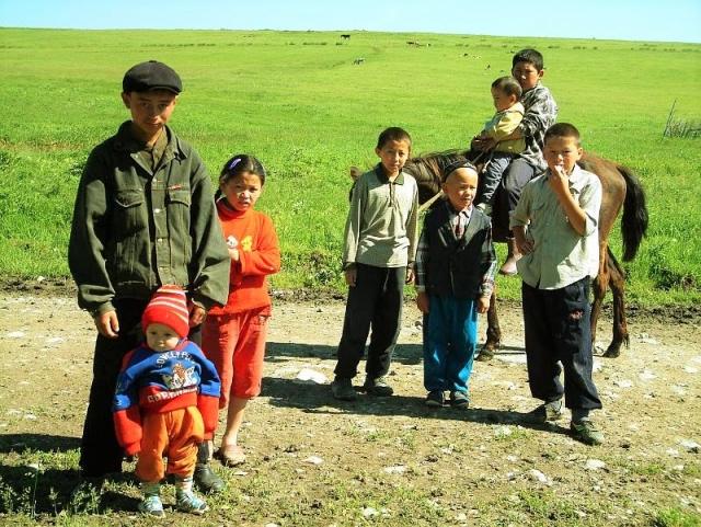Жители сельской местности Казахстана